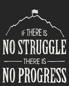 no struggle no progress