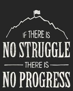 no struggle no progress
